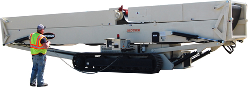 Track-mounted radial stacker is latest Superior conveyor