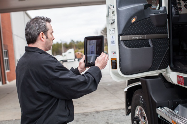 Truck QR codes to improve uptime
