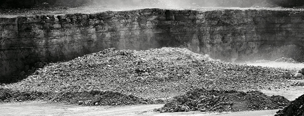 This sequence of photos shows a typical blast at a quarry operation. Photo by Tom Hingst