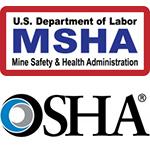 Logos: MSHA, OSHA
