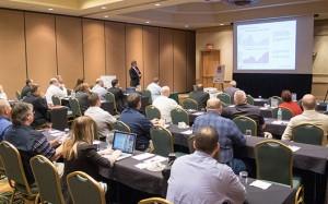 George Reddin of FMI Capital Advisors Inc. delivers a presentation.