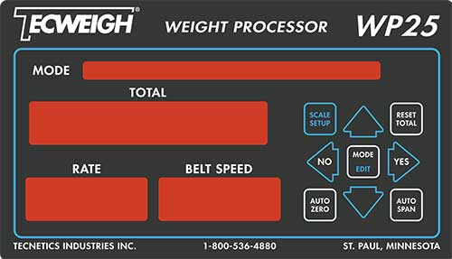 Tecweigh WP25 Processor, Data Collection Compliments