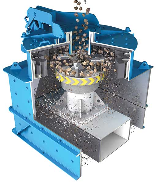 VSI crushers maximize first-pass yields, lower operating costs