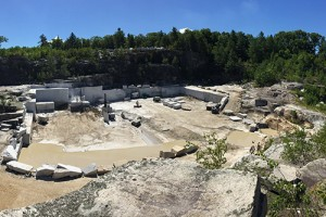Polycor plans to donate materials from its North Jay White Quarry in Jay, Maine, to the Western Maine Play Museum. Photo courtesy of Polycor.