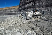 Liebherr's new crawler tractor now in the U.S. market works in mining and quarrying applications. Photo courtesy of Liebherr.