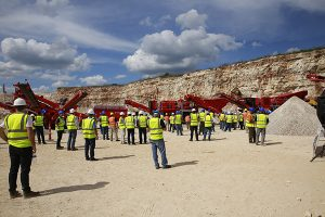 Terex Finlay hosted its event at a Martin Marietta quarry. Photo courtesy of Terex Finlay