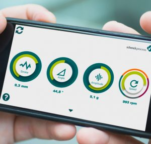 Schenck Process' new mobile application allows users to determine a vibrating machine's performance. Photo courtesy of Schenck Process