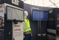 Caterpillar showcased several safety technologies in the Tech Experience plaza during ConExpo-Con/Agg 2017. Photo by Megan Smalley
