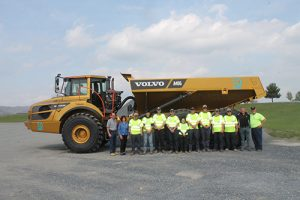 Nine students from across Pennsylvania participated in SkillsUSA's Pennsylvania Heavy Equipment Operator competition. Photo courtesy of Volvo Construction Equipment.
