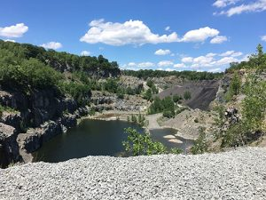 Aggregate Industries' Saugus quarry will be reclaimed in the next 15 years. Photo courtesy of LafargeHolcim