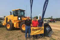 From left: Farm Depot's Mark Laethem, Mike Laethem and Blake Laethem. Photo courtesy of Hyundai Construction Equipment Americas.