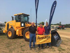 From left: Farm Depot's Mark Laethem, Mike Laethem and Blake Laethem. Photo courtesy of Hyundai Construction Equipment Americas.