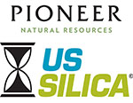 Pioneer Natural Resources, U.S. Silica logos