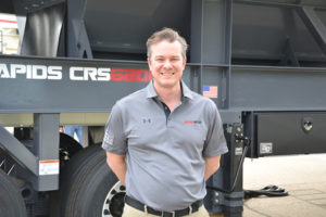 Terex MPS's Spencer Kossl. Photo by Kevin Yanik.