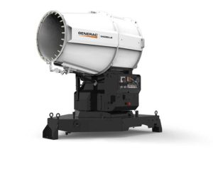 The DF 7500 system has a maximum horizontal range of 131 ft. and a vertical range of 52 ft. Photo courtesy of Generac Mobile
