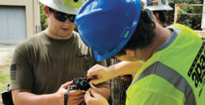 Students learn about cap hook-ups at Missouri S&T. Photo courtesy of Anthony Konya