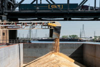 Increasing road traffic elevates barges as a viable option to deliver construction materials to New York City. Photo courtesy of Superior Industries