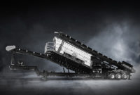 The Tyler F-Class portable plant includes several new technologies to improve setup time and extend equipment longevity in quarry and mining operations. Photo courtesy of Haver & Boecker.