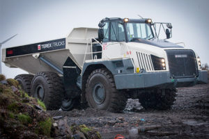 The 38-tonne TA400 articulated hauler is designed to operate in challenging conditions. Photo courtesy fo Terex Trucks.