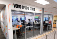 The Volvo Uptime Center in Shippensburg, Pennsylvania, takes about 1,000 phone calls per month, aiming to reduce downtime for customers. Photo courtesy of Volvo CE