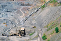 Hanson Aggregates - Penns Park Quarry Conveyor, Newtown, Pennsylvania. Photo: Zach Mentz