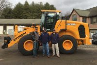 From left to right: Steve Miller (vice president of sales a Butler Equipment), Chad Parker (senior product specialist and sales trainer at HCEA) and Andy Mayek (sales manager at Butler Equipment). Photo courtesy of Hyundai