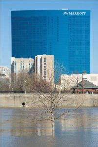 The JW Marriott, situated near the White River in downtown Indianapolis, is the location of this year's convention. Photo: iStock.com/ Joel Carillet