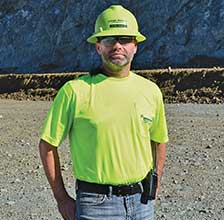 Marc McNeil, plant manager at Lehigh Hanson's Clayton Quarry, oversees current plant upgrades, from initial feed to product finishing. Photo courtesy of Polydeck.