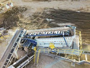 According to Haver & Boecker, the F-Class portable plant can be customized to include a crusher, conveyors or other components for enhanced productivity. The machine is ideal for tough applications, such as scalping and classifying ores, minerals, stones, sand and gravel. Photo courtesy of Haver & Boecker