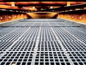 Rubber panels are commonly used for dry applications and abrasive materials. Photo courtesy of Polydeck