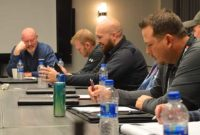 McLanahan 2019 Dealer Academy attendees discuss strategies during the hands-on training session. Photo by Allison Barwacz