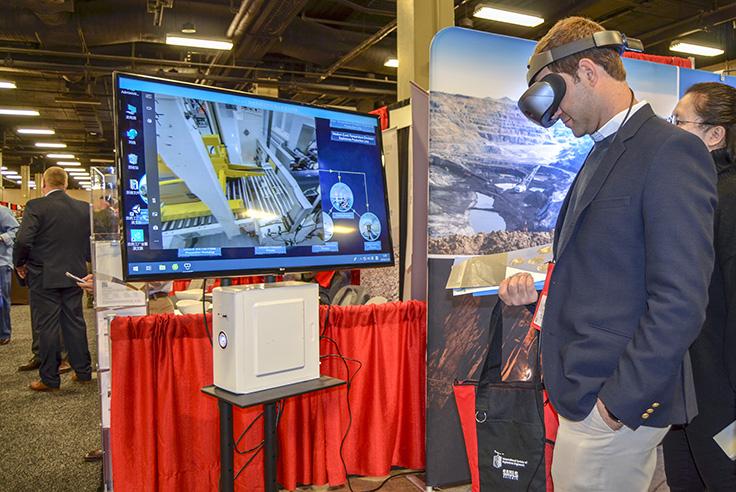 The exhibit hall showcased the latest products and technology from more than 180 organizations in the explosives and related industries. Photo courtesy of ISEE