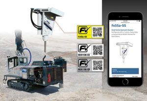 F-Check QR codes on FRD drills allow users to access the drill model, specifications and maintenance intervals. Photo courtesy of FRD USA