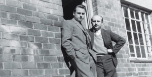Manfred Freissle, left, with Helmut Rosenbusch, an original business partner in South Africa. Photo courtesy of Polydeck