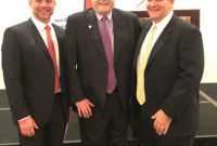 TACA president David Perkins (left), Sen. Brian Birdwell (center) and River Aggregates' Rob Van Til participated in TACA's 2019 Capitol Day. (Photo: TACA)
