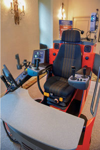 On-site simulators provided attendees opportunities for hand-on learning. Photo courtesy of Dyno Nobel