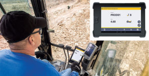 Trimble's Loadrite Payload Management for excavators is an example of technology that's designed to enhance productivity and efficiency. Photo courtesy of Trimble