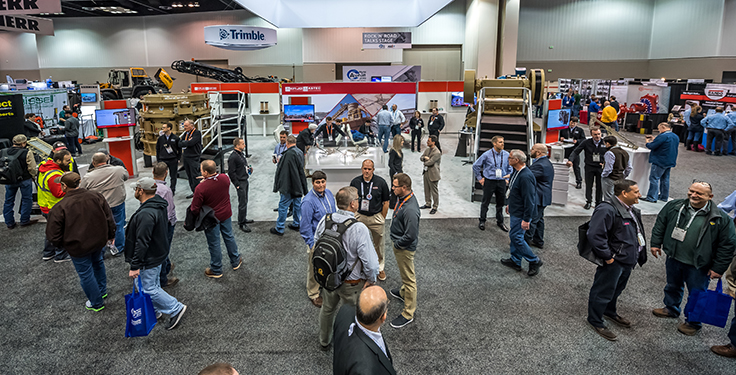 The 2019 AGG1 and World of Asphalt trade show attracted 10,063 attendees to Indianapolis. Photo courtesy of World of Asphalt