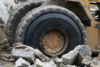 Argonics' OTR sidewall protector offers tires protection from harsh environments. Photo courtesy of Argonics