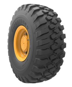 The Firestone VersaBuilt AT 14.00R24 tire is designed primarily for loaders and graders. Photo courtesy of Bridgestone Americas.