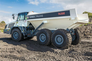 The updated TA300 from Terex Trucks will make its first international trade show appearance at Bauma 2019. Photo courtesy of Terex Trucks.