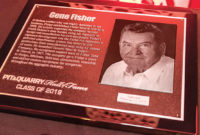 One of the greatest achievements of Gene Fisher, whose Hall of Fame plaque is pictured above, was launching General Steel & Supply, making it possible for him to design, fabricate, field-test, demonstrate, assemble and deliver custom equipment not just for Fisher Sand & Gravel, but for aggregate companies throughout the industry. Photo by PamElla Lee Photography.