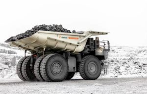 According to Metso, one of its typical truck bodies weighs 20 to 30 percent less than a traditional steel-lined truck body. Photo courtesy of Metso