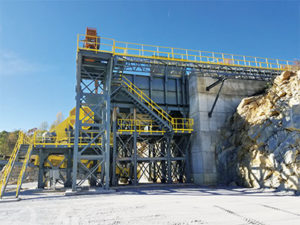 Operations can also choose between stationary, modular and portable crushing plants. Stationary plants, like the one pictured, are often selected because they feature higher capacities and lower production costs with easier maintenance. Photo courtesy of Kemper Equipment.