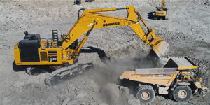 The PC1250SP-11 excavator from Komatsu. Photo courtesy of Komatsu America.