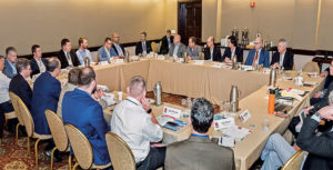 Those who attend the Roundtable are divided into two rooms that have concurrent discussions on the same industry topics. Photo courtesy of PamElla Lee Photography
