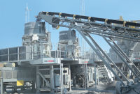 Several equipment designs are available for the various stages of crushing. Photo courtesy of Kemper Equipment