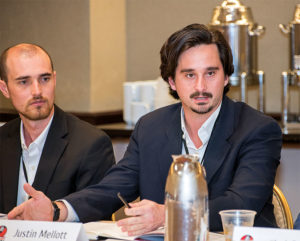 According to Justin Mellott, right, providing cross-training opportunities has helped new employees understand the various parts of Mellott Company's business. Photo courtesy of Pamella Lee Photography.