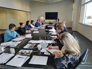 Representatives from Butler Tech, Ohio University and OAIMA meet at the John R. Jurgensen corporate office in Cincinnati during a planning and strategy meeting. Photo courtesy of OAIMA