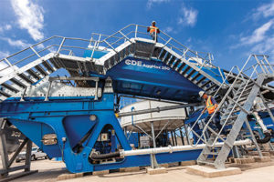 According to CDE, the AquaCycle is pre-wired and features a factory-assembled cone section with an integrated sludge pump allowing for rapid setup and commissioning. Photo courtesy of CDE